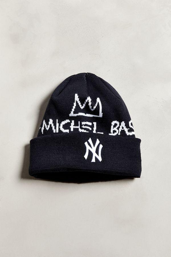86d23c0fb New Era X Basquiat New York Yankees Signature Knit Beanie   Urban ...