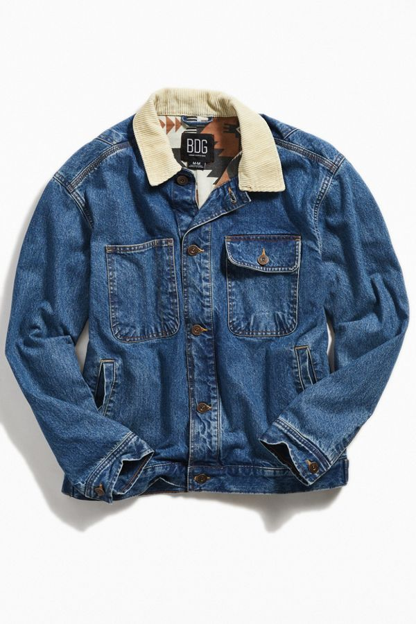 5e3f653295 BDG Corduroy Collar Relaxed Fit Trucker Jacket   Urban Outfitters