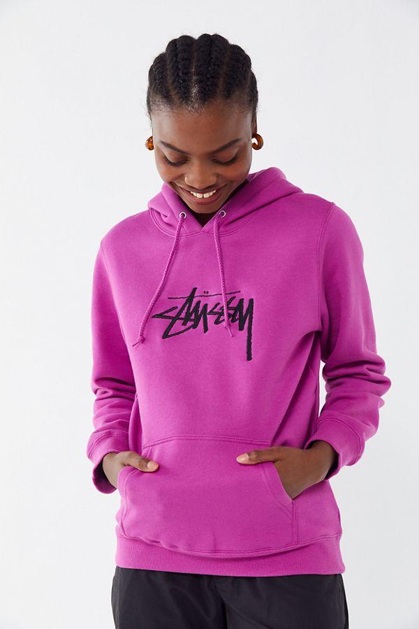 d3434cae6 Stussy Stock Logo Hoodie Sweatshirt | Urban Outfitters