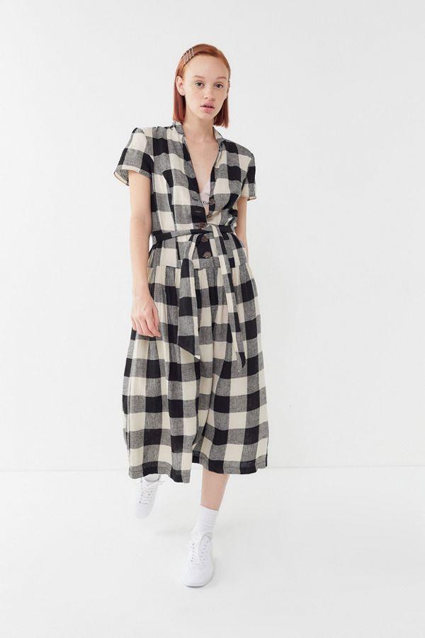 31af51a1eda Slide View  4  UO Natalie Linen Belted Shirt Dress