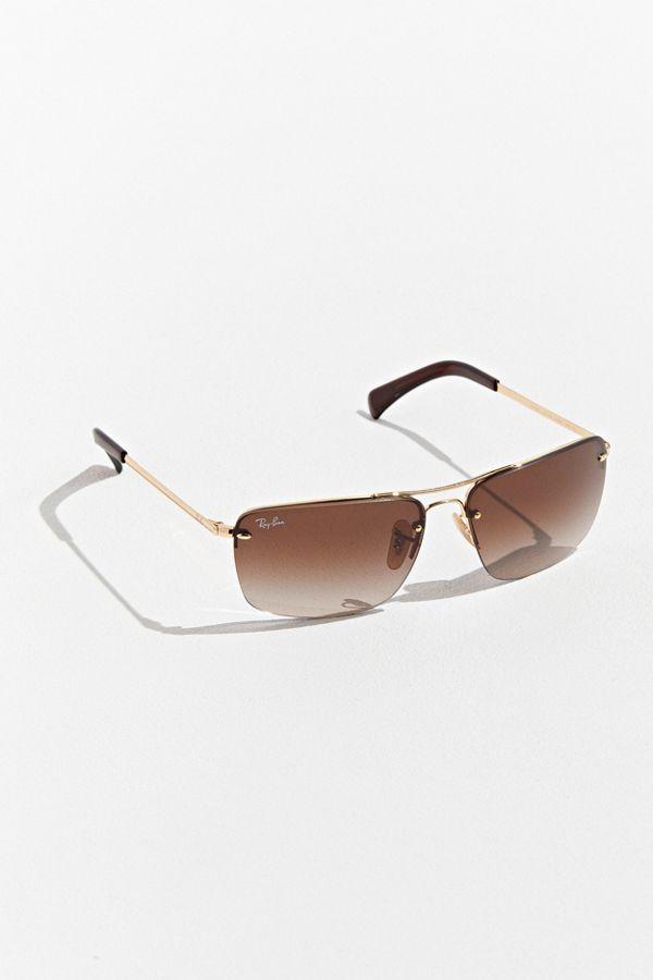 a058cdd18e Slide View  1  Ray-Ban Semi-Rimless Rectangle Sunglasses
