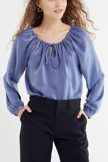 bd7226e6ae8 Urban Renewal Remnants Silky Bell-Sleeve Blouse