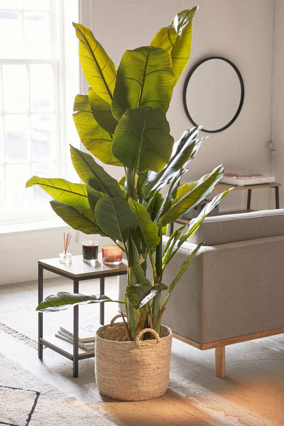 Slide View: 1: Potted Faux Banana Tree