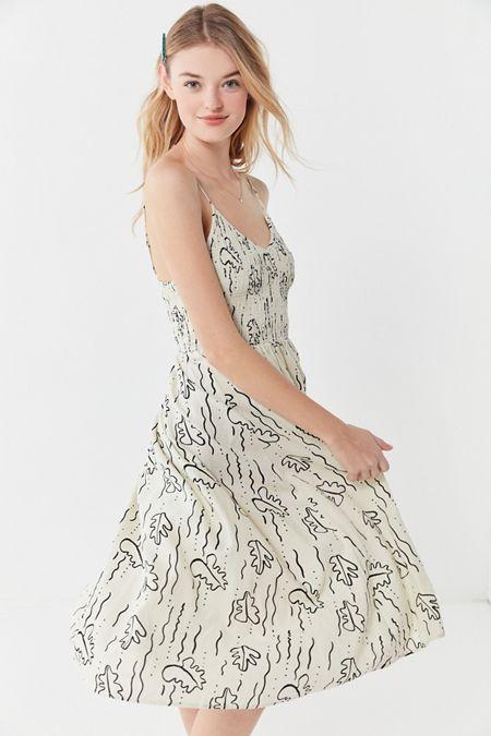 c11ceb8fb95 UO Ember Smocked Midi Dress