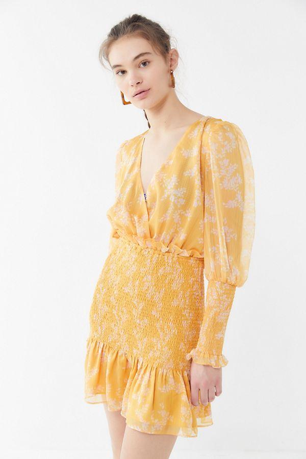 f00db2082be0 Keepsake Embrace Smocked Long Sleeve Mini Dress | Urban Outfitters