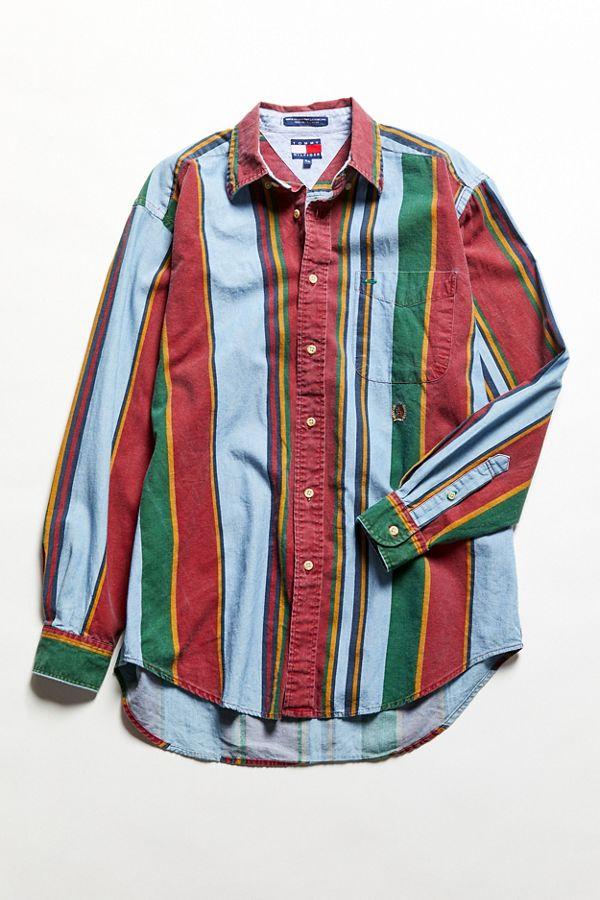 ce8166aa Vintage Tommy Hilfiger Multicolor Stripe Button-Down Shirt | Urban ...