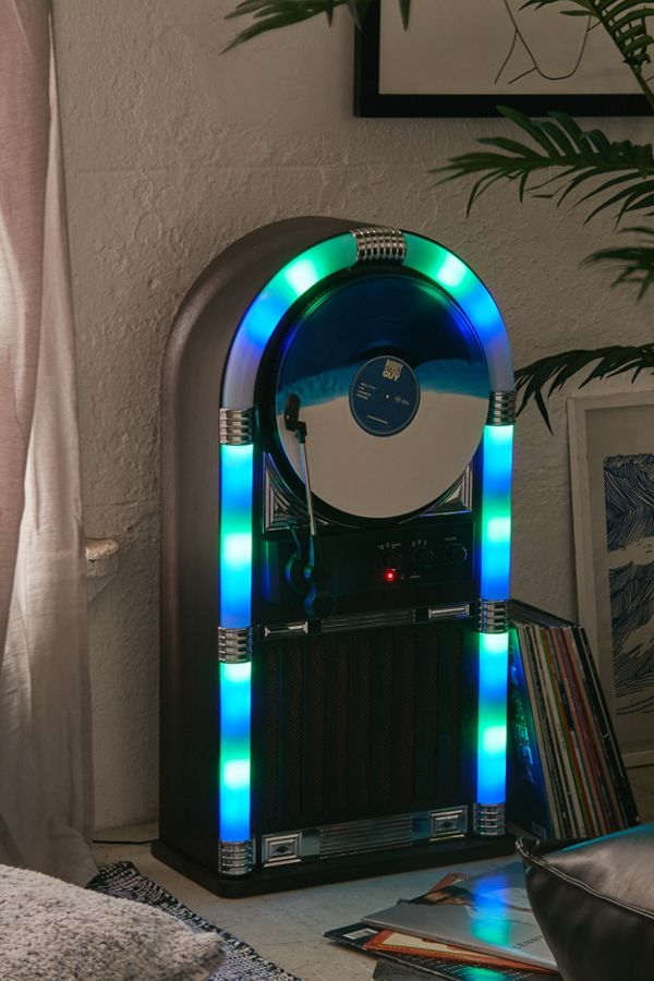 Slide View: 1: ART+SOUND Jukebox Vertical Bluetooth Record Player