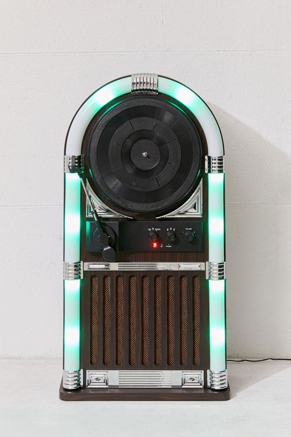 Slide View: 2: ART+SOUND Jukebox Vertical Bluetooth Record Player