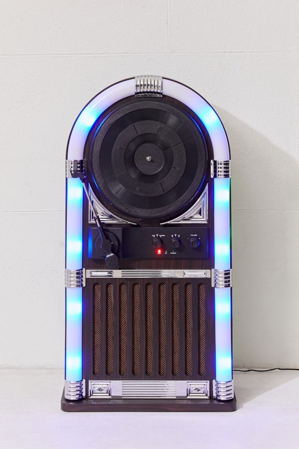 Slide View: 3: ART+SOUND Jukebox Vertical Bluetooth Record Player