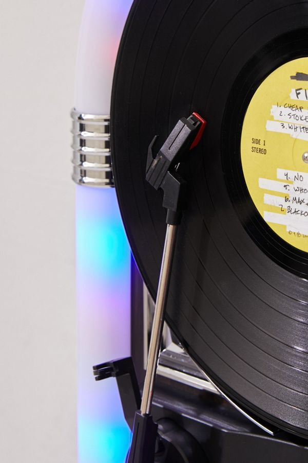 Slide View: 4: ART+SOUND Jukebox Vertical Bluetooth Record Player