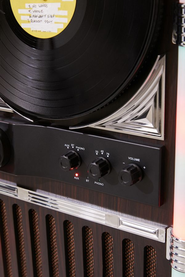 Slide View: 5: ART+SOUND Jukebox Vertical Bluetooth Record Player