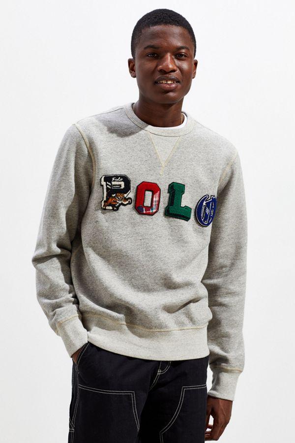 4aa584d711b Slide View  1  Polo Ralph Lauren Patches Crew-Neck Sweatshirt
