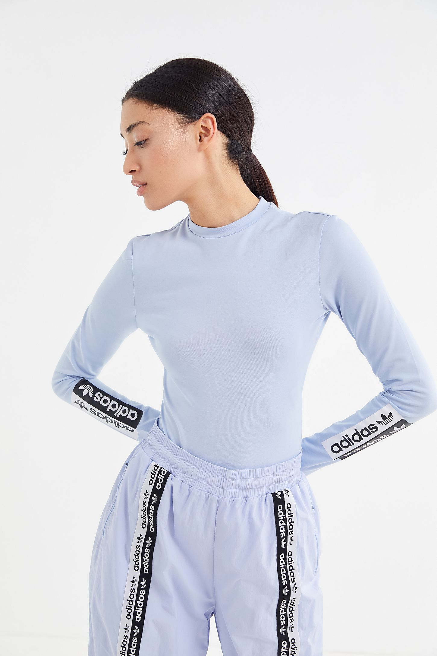 best sneakers 877be 42562 adidas Originals Reveal Your Voice Falcon Long Sleeve Bodysuit