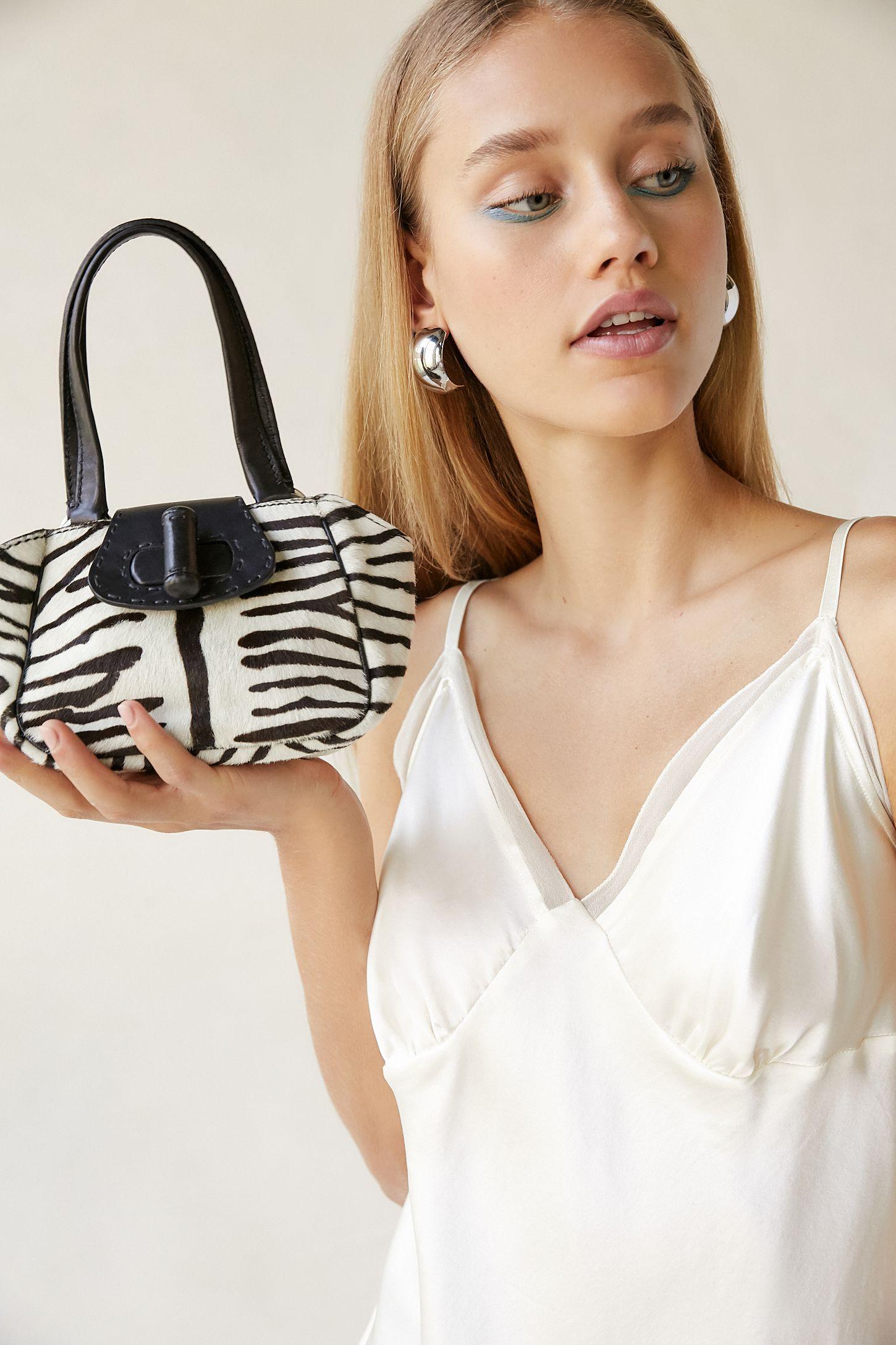 941b017268a9 Vintage Prada Shrunken Zebra Print Mini Bag
