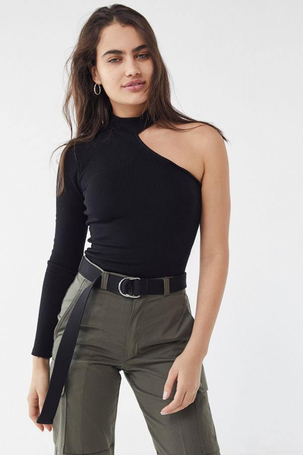 e614bca11b6 Your Urban Outfitters Gallery. UO Mia One-Shoulder Mock-Neck Top