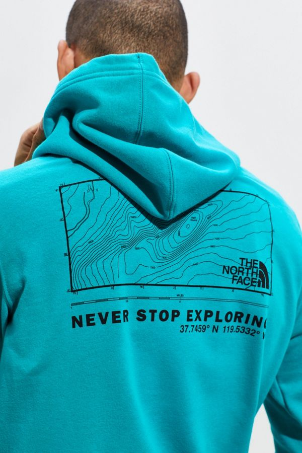 discount reasonable price the latest The North Face UO Exclusive Topography Logo Hoodie Sweatshirt