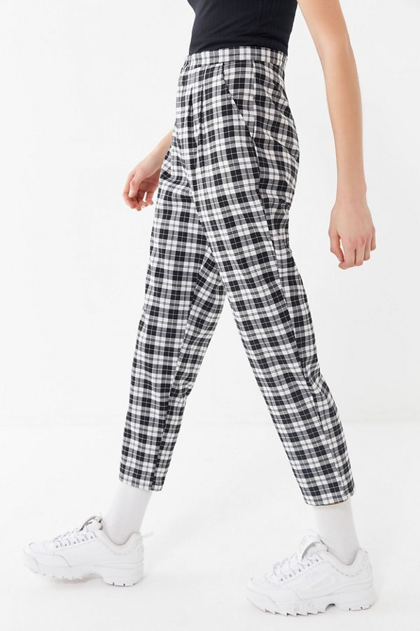 74e6cbfa1b0c5c Urban Renewal Remnants Plaid Trouser Pant | Urban Outfitters