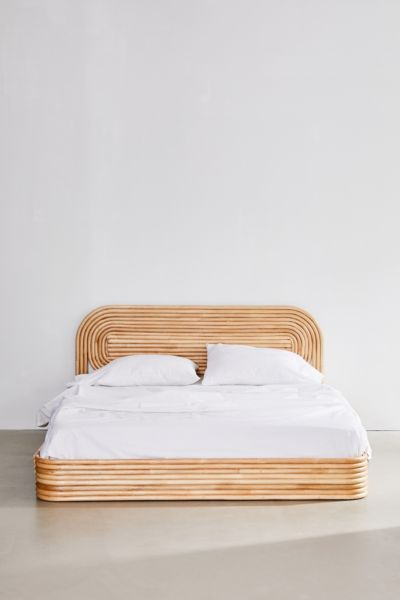 Ria Rattan Bed Urban Outfitters