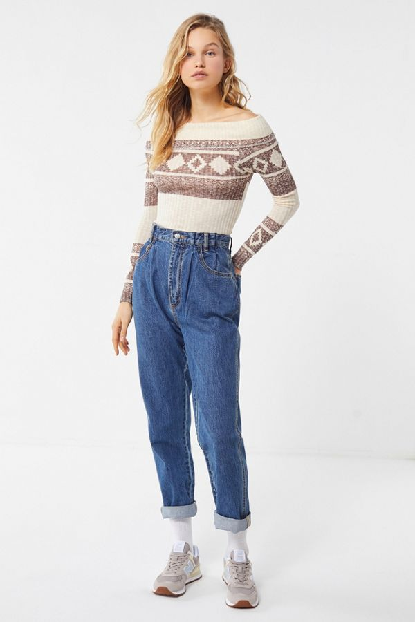 c7149c37e2d1 Out From Under Sandy Off-The-Shoulder Long Sleeve Top | Urban Outfitters