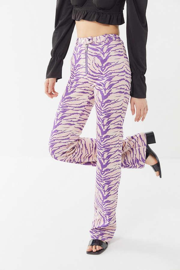 0268b9c3436f9e I.AM.GIA Kiki Animal Print Zip-Front Pant | Urban Outfitters