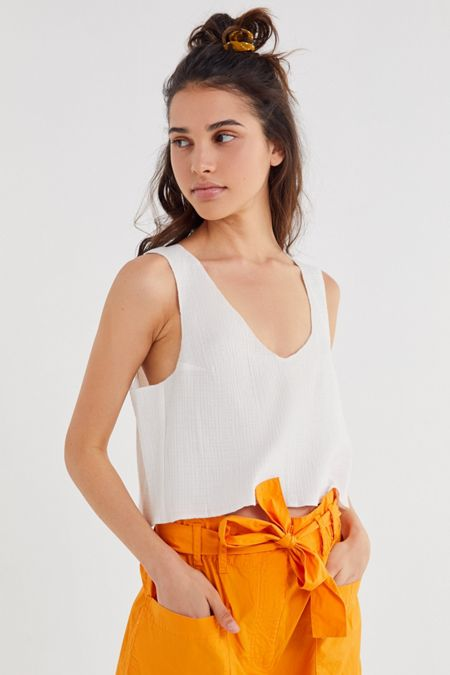 UO Cropped Shell Tank Top 404d0f3f27