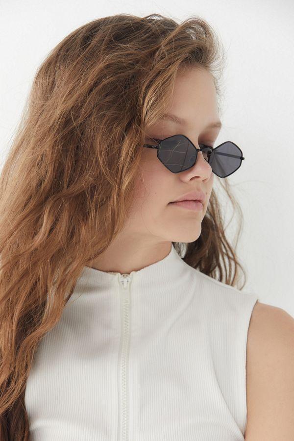 c5baed509be Slide View  1  Lexi Slim Metal Diamond Sunglasses
