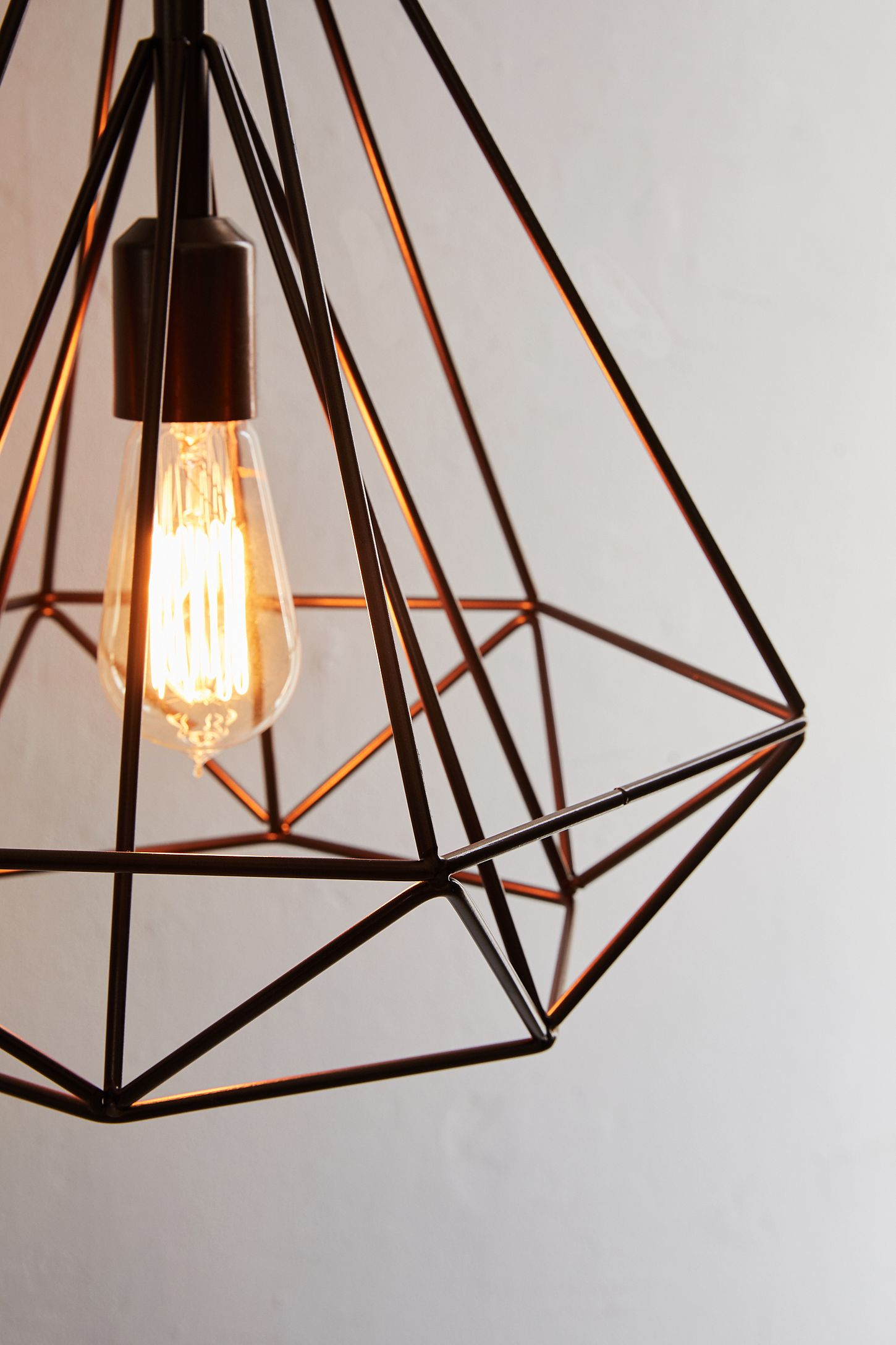Slide View 4 Cara Caged Pyramid Pendant Light