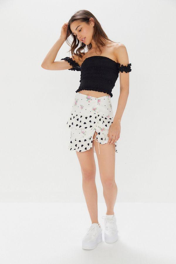 231c7ab613e Slide View  1  For Love   Lemons Lucia Mixed Print Ruffle Mini Skirt