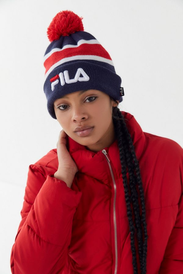 82596098 FILA Heritage Knit Beanie | Urban Outfitters