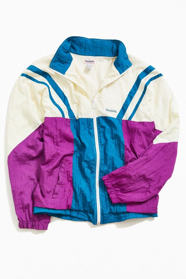 8230c724139a1 Vintage Reebok '90s Colorblock Windbreaker Jacket