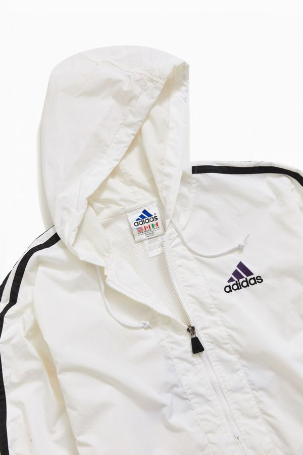 Vintage adidas '90s White Windbreaker Jacket