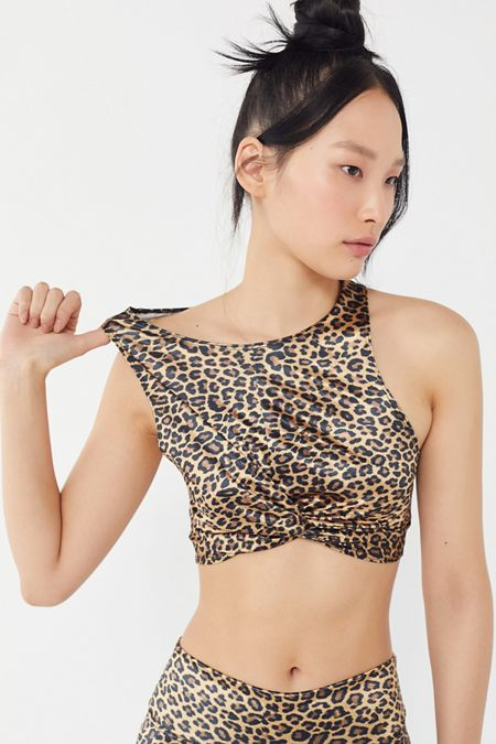 1f02926fb6d4ed Out From Under Sam Leopard Print Twist-Front Bra Top