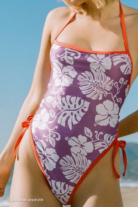 5f9de52136fc4 Roxy UO Exclusive Reversible Tie-Back One-Piece Swimsuit