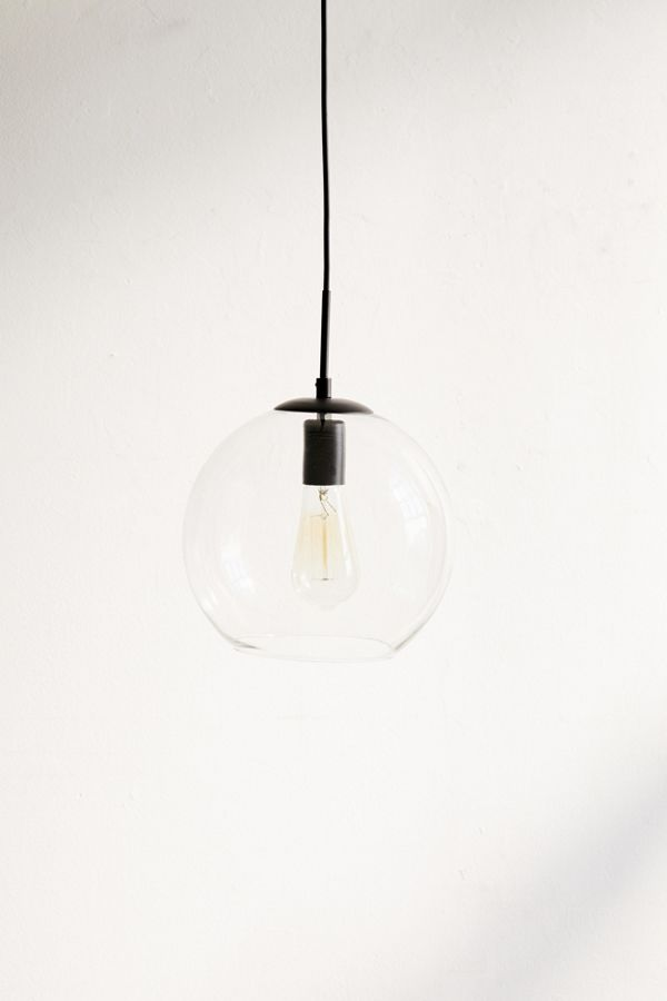 Clear Globe Pendant Light Urban Outfitters