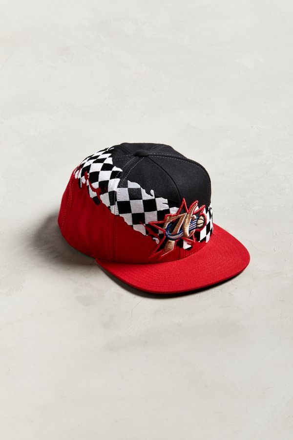 35a51ef94 Mitchell & Ness Philadelphia 76ers Checkered Snapback Hat