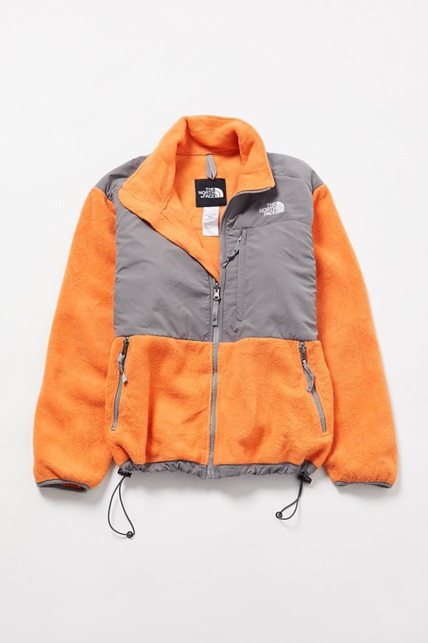 e040d2fdd Vintage The North Face Orange + Grey Fleece Jacket