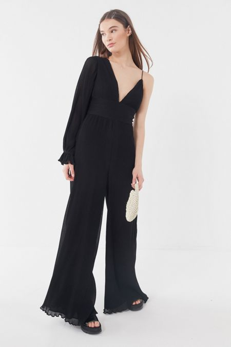 e5715ee96fb9 Keepsake Clarity One-Shoulder Wide Leg Jumpsuit