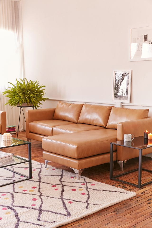 Chamberlin Recycled Leather Sectional Sofa Urban Outfitters