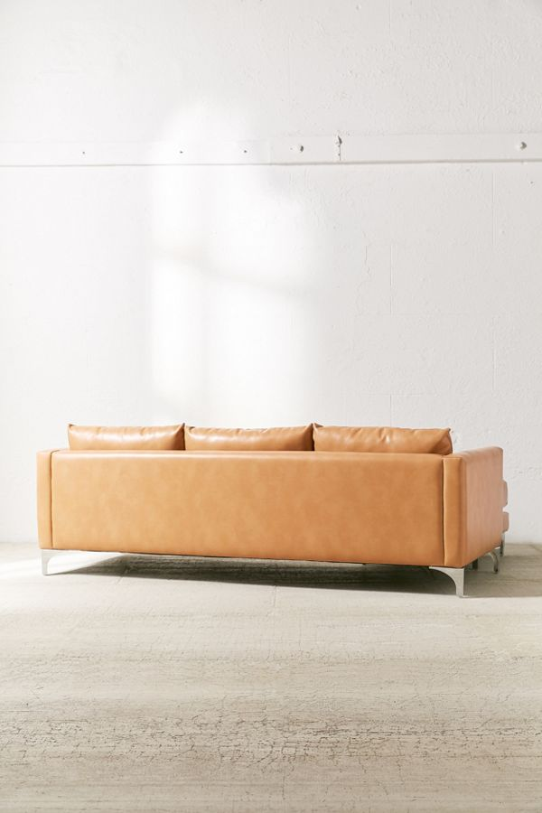 Remarkable Chamberlin Recycled Leather Sectional Sofa Pabps2019 Chair Design Images Pabps2019Com