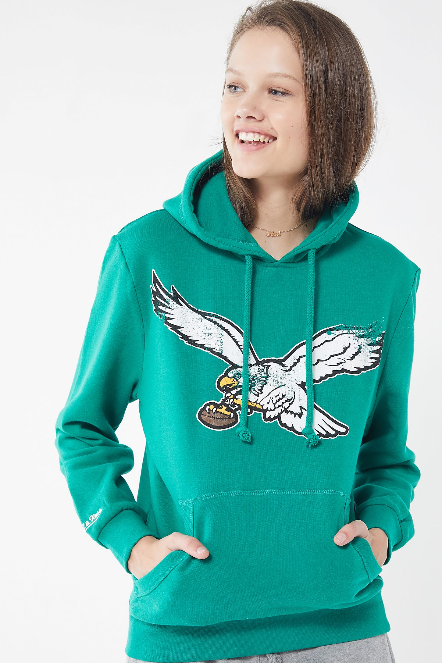 buy popular 88dfb 2f1b8 Mitchell & Ness Philadelphia Eagles Hoodie Sweatshirt