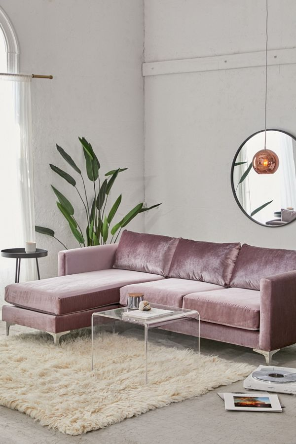 Groovy Chamberlin Velvet Sectional Sofa Urban Outfitters Gmtry Best Dining Table And Chair Ideas Images Gmtryco