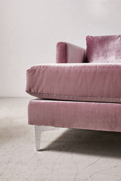 Chamberlin Velvet Sectional Sofa Urban Outfitters