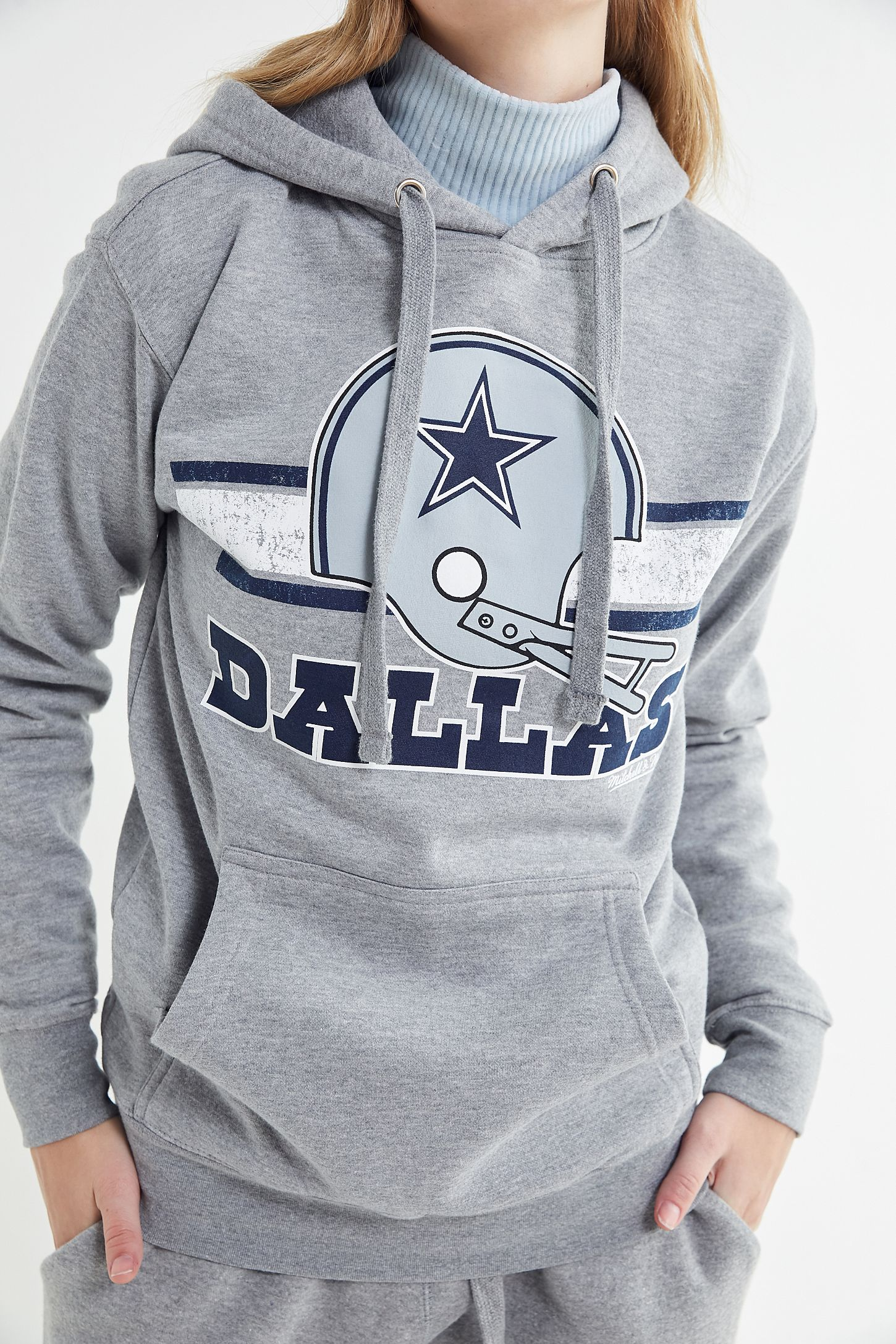 the latest ee7ad 65418 Mitchell & Ness Dallas Cowboys Hoodie Sweatshirt