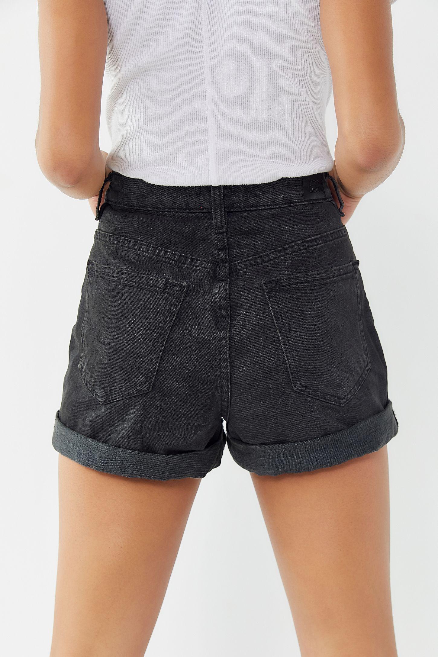 6e040237112 BDG Denim High-Rise Mom Short – Black | Urban Outfitters Canada
