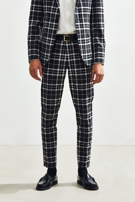 3ce41f0d7fb UO Plaid Skinny Fit Suit Pant