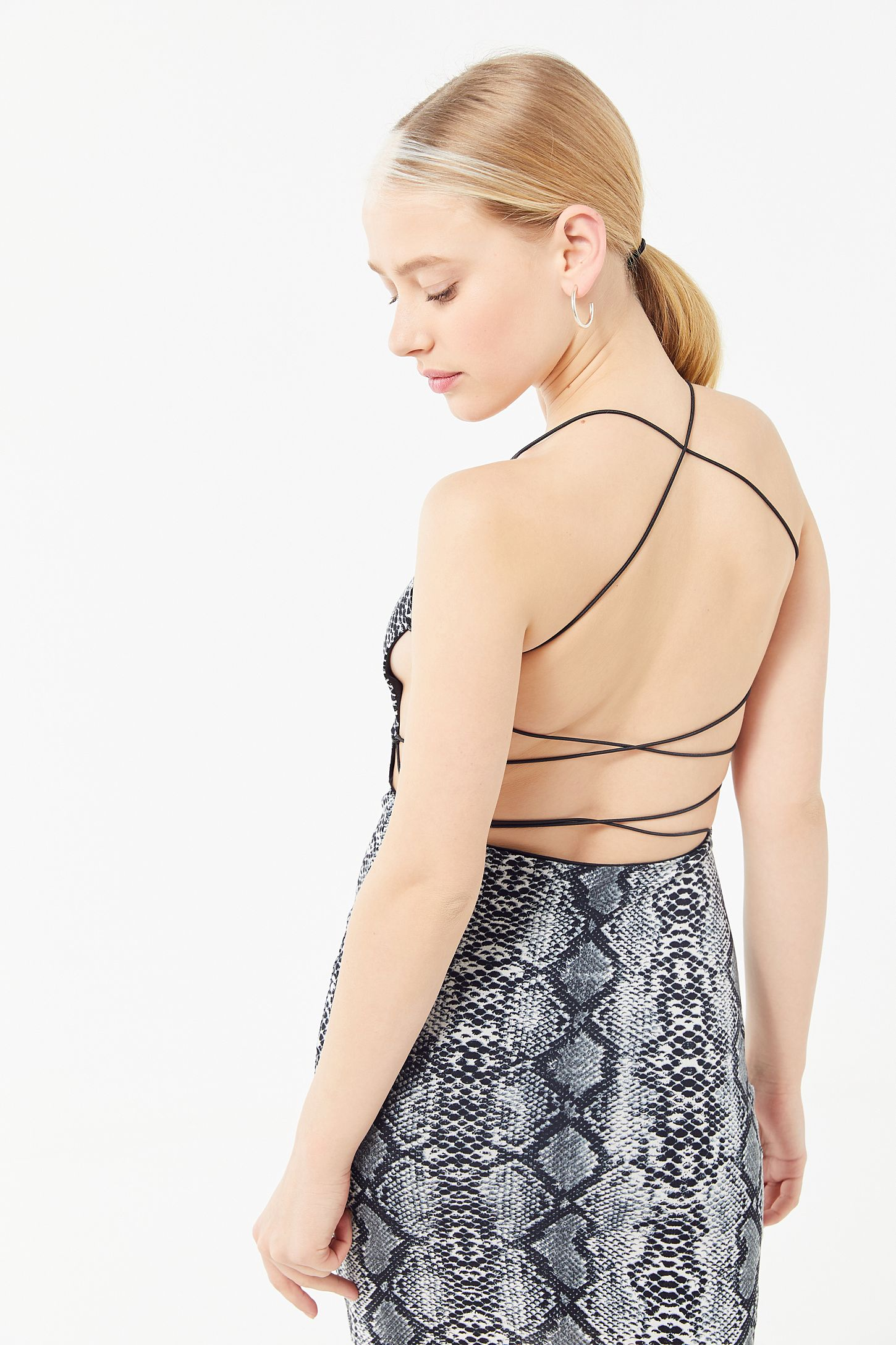 save off half off best prices Tiger Mist Tyra Snake Print Strappy Back Mini Dress