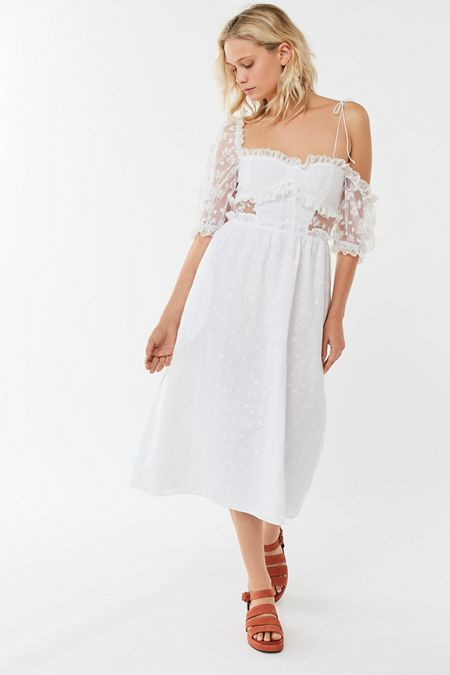 0b47133a11c For Love   Lemons Sadie Lace Midi Dress