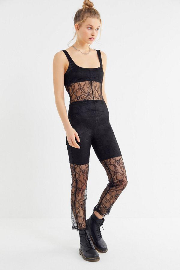 5c0582d0c53 Slide View  1  Lioness Broadway Sheer Lace Jumpsuit
