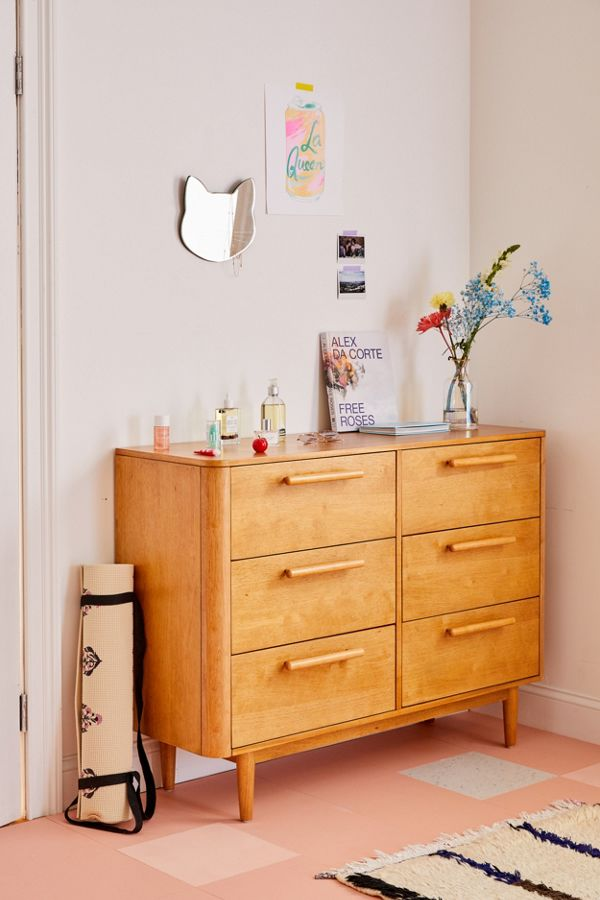 Slide View: 1: Camila 6-Drawer Dresser