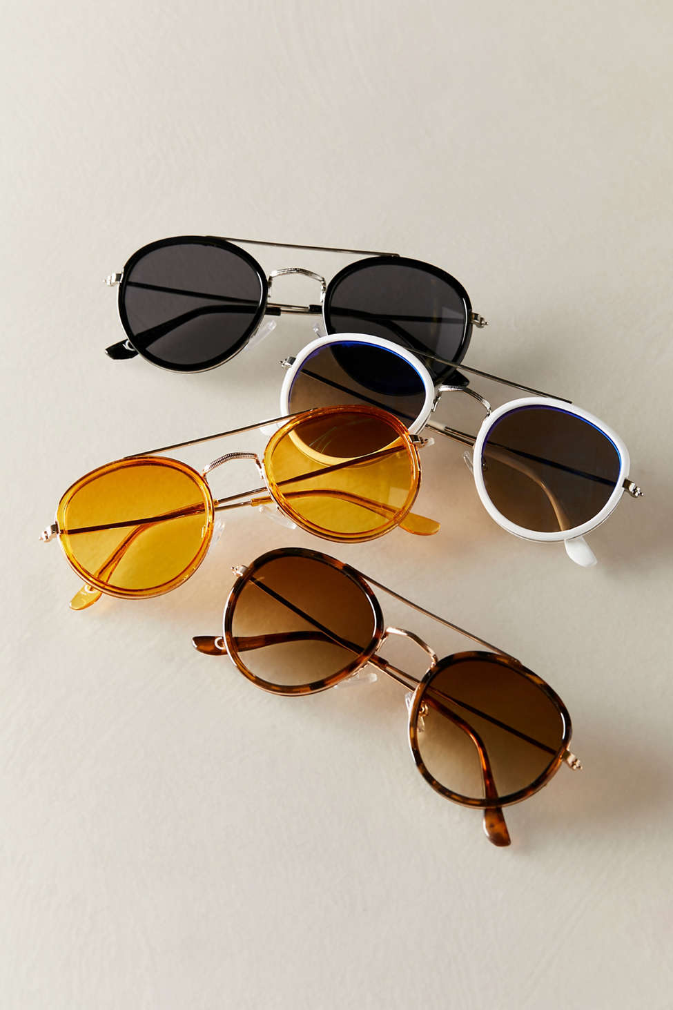 Riley Round Aviator Sunglasses by Urban Outfitters